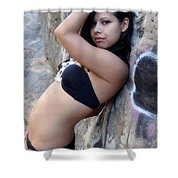 Shower Curtain featuring the photograph Young Hispanic Woman by Henrik Lehnerer