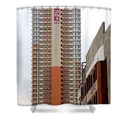 Shower Curtain featuring the photograph 7082515 Building by Ester  Rogers