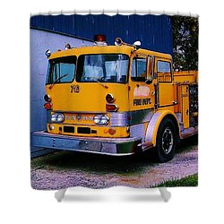 Shower Curtain featuring the photograph 710 ....... Fire Dept. by Daniel Thompson
