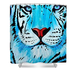 Blue Bengal Shower Curtain