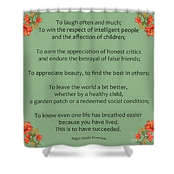 75- Ralph Waldo Emerson Shower Curtain