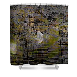 Shower Curtain featuring the digital art What Is Real Is Not The Exterior But The Idea, The Essence Of Things.  by Danica Radman
