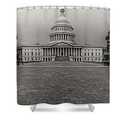 Shower Curtain featuring the photograph Capitol Building by Peter Lakomy