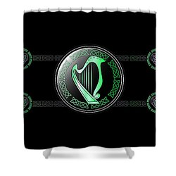 Celtic Harp Shower Curtain