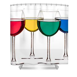 Colorful Drinks Shower Curtain by Peter Lakomy