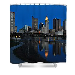 Columbus Ohio Skyline At Night Shower Curtain
