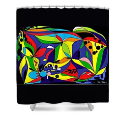 Design By Loxi Sibley Shower Curtain