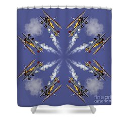 8 Planes Shower Curtain by Jerry Fornarotto
