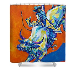 8 Second Insanity Shower Curtain by Derrick Higgins