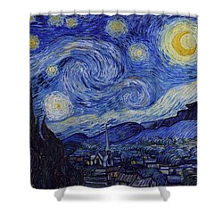 Starry Night Shower Curtain by Vincent Van Gogh