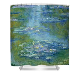 Waterlilies Shower Curtain by Claude Monet