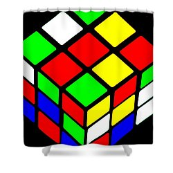 80s Icon Shower Curtain by Benjamin Yeager
