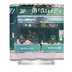 80th And Amsterdam Avenue Shower Curtain by Anthony Butera