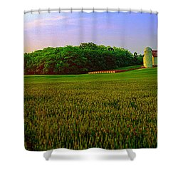 Conley Road, Spring, Field, Barn   Shower Curtain