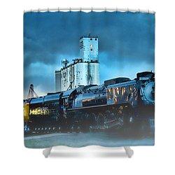 844 Night Train Shower Curtain
