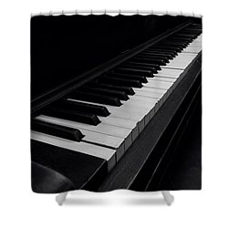 88 Keys Shower Curtain by Thomas Woolworth
