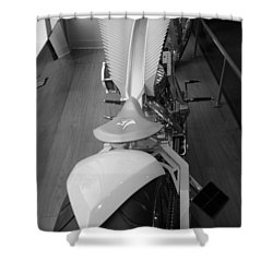 9/11 Memorial Bike In Black And White Shower Curtain by Rob Hans