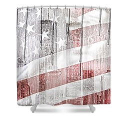 9 11 Shower Curtain by Mo T