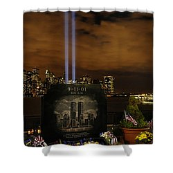 9-11 Monument Shower Curtain by Dave Mills