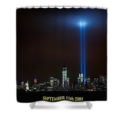 9/11 Tribute Shower Curtain by Nick Zelinsky