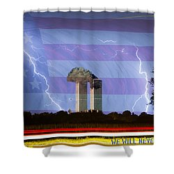 9-11 We Will Never Forget 2011 Poster Shower Curtain