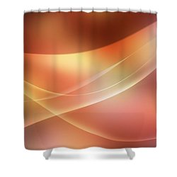 Abstract  Shower Curtain by Les Cunliffe