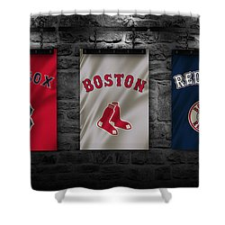 Attirant Boston Red Sox Shower Curtain