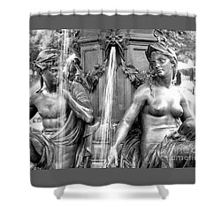 Brewer Fountain Boston Ma Shower Curtain