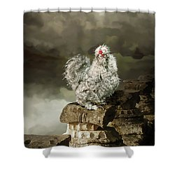 9. Cuckoo Angela Shower Curtain