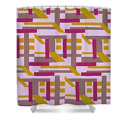 Design From Nouvelles Compositions Decoratives Shower Curtain by Serge Gladky