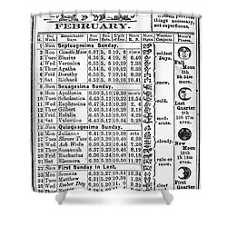 Family Almanac, 1874 Shower Curtain by Granger