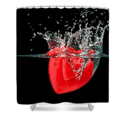 Heart Shower Curtain by Peter Lakomy