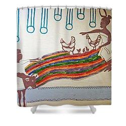 Kintu And Nambi Shower Curtain by Gloria Ssali