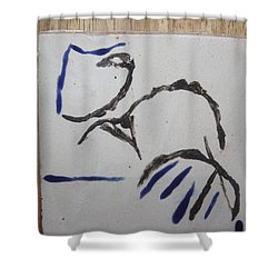 Mama - Tile Shower Curtain by Gloria Ssali
