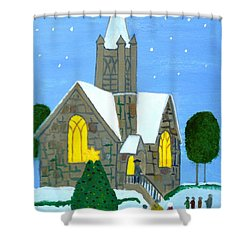 Merry Christmas Shower Curtain by Magdalena Frohnsdorff
