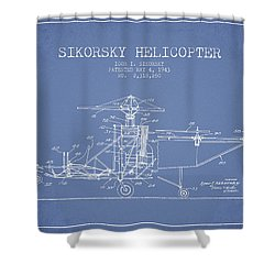 Sikorsky Helicopter Patent Drawing From 1943 Shower Curtain