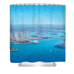 Sydney Harbour And The Opera House Aerial View  Shower Curtain
