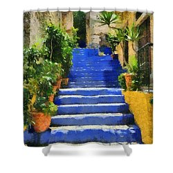 Symi Island Shower Curtain