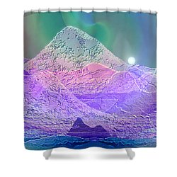 939 - Magic Mood  Mountain World Shower Curtain by Irmgard Schoendorf Welch