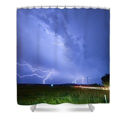 95th And Woodland Lightning Thunderstorm View Shower Curtain by James BO  Insogna
