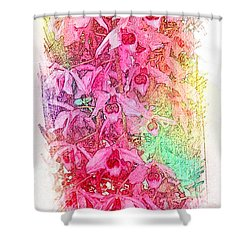 Pink Pretty Orchids Shower Curtain
