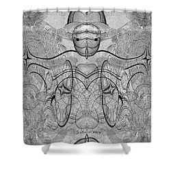 989 - Giant Creature Fractal ... Shower Curtain