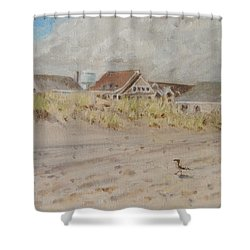 98th Street Beach Stone Harbor New Jersey Shower Curtain by Patty Kay Hall