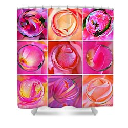 #9pinkribbons Digital Collage For Breast Cancer Awareness Shower Curtain