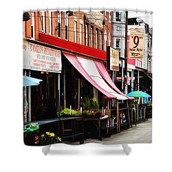 9th Street Italian Market Philadelphia Shower Curtain by Bill Cannon