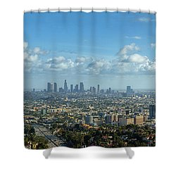 A 10 Day In Los Angeles Shower Curtain by David Zanzinger