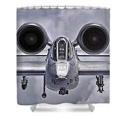 A-10 Thunderbolt II Shower Curtain by Adam Romanowicz