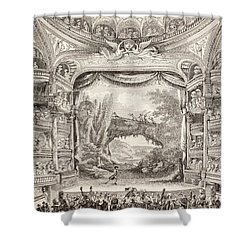 A 1789 Performance In The Theatre Des Varietes Amusantes Shower Curtain by French School