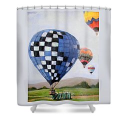 A Balloon Disaster Shower Curtain