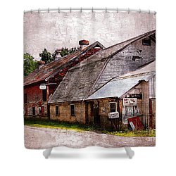 A Barn With Many Purposes Shower Curtain by Marcia Lee Jones